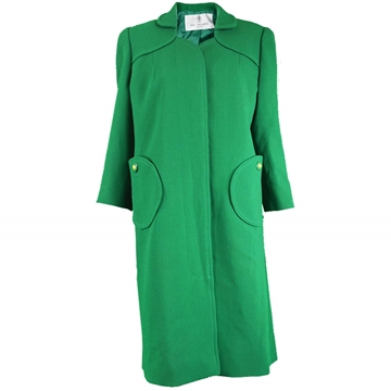 Ian Thomas 1960s Couture wool Green Vintage Coat