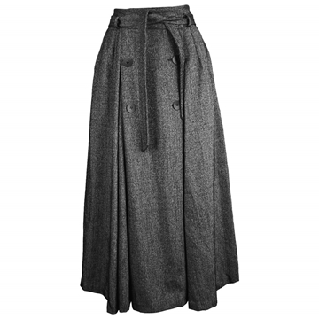 Georges Rech 1980s Wool grey Vintage Skirt