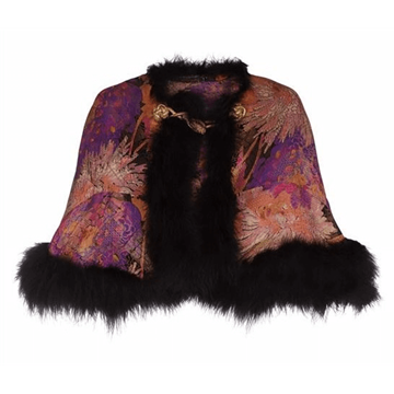 Picture of Vintage 1920s Lame & Feather multicolour Cape