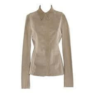 Gucci Buckskin Leather Beige Vintage Shirt