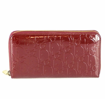 Picture of Christian Dior Patent Leather Ultimate Voyageur Zip Around Wallet