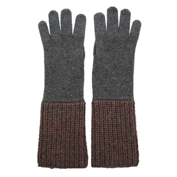 Brunello Cucinelli Chunky Sequin Grey Vintage Gloves