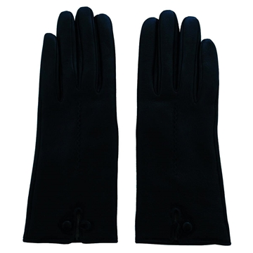 Vintage Leather and cashmere Dark Green gloves