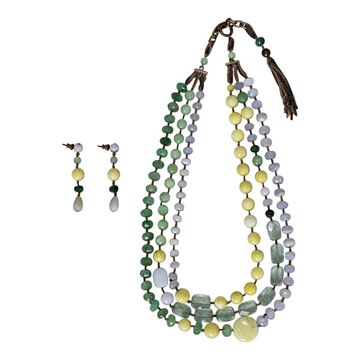 Pellini Milano Green, Yellow and Blue Earrings and necklace parure