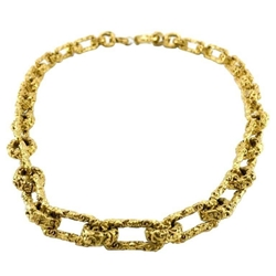 Chanel 1993 chunky Gold-Plated vintage chain necklace