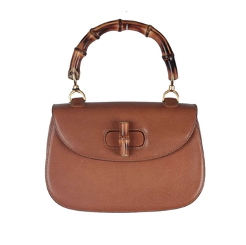Gucci Leather Bamboo Light Brown Top Handle bag