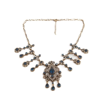 Vintage rhinestone & crystal antique style necklace