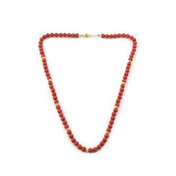 Marcello Minotto Coral & gold vintage necklace