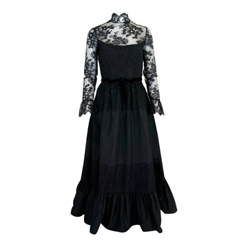 Oscar De la Renta 1960s Lace black Vintage Dress