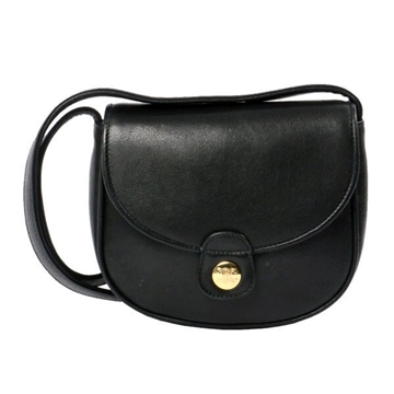 Celine Leather Blazon Mini leather black shoulder bag