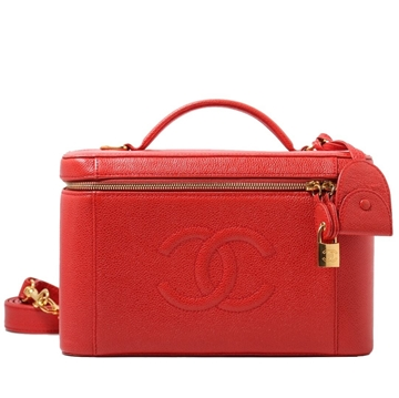 Chanel Caviar leather red Vanity Bag