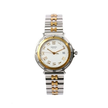 Hermes Captain Nimo silver & gold unisex vintage watch