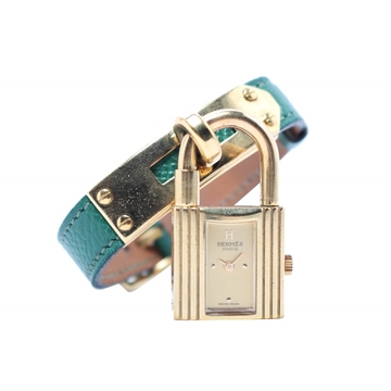 Hermes Kelly green tourquoise vintage ladies watch