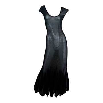 Giulia Carla Cecchi 1980s Mermaid black Maxi Dress