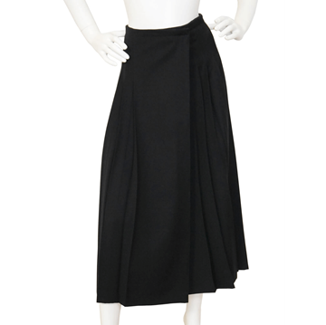 JEAN PAUL GAULTIER pour GIBO 1980s Asymmetrical Pleated black vintage wrap Skirt