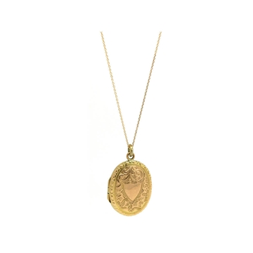 ANTIQUE VICTORIAN 9CT ROSE GOLD OVAL LOCKET NECKLACE