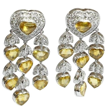 18kt Gold and sapphire vintage Earrings