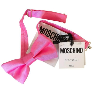Moschino Couture! Pink Vintage Bow Tie