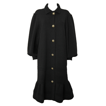 ALBERTINA ROMA 1980s Knitted black vintage coat