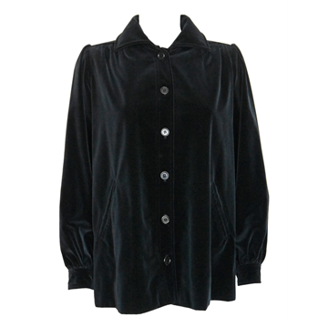 Picture of YVES SAINT LAURENT c.1974 Documented Velvet black vintage Jacket