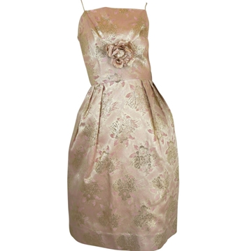 Mardi Gras 1960s Metallic Brocade pink vintage Wrap & dress