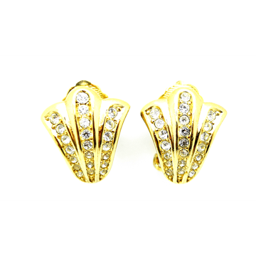 Christian Dior Gold & Crystal vintage Earrings
