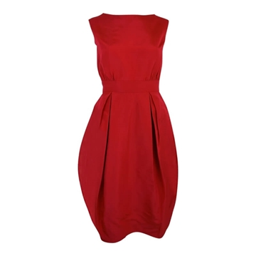 Saks 1950s puff skirted Raspberry Red vintage Cocktail Dress