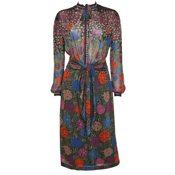 LOUIS FÉRAUD 1970s floral Belted vintage Day Dress