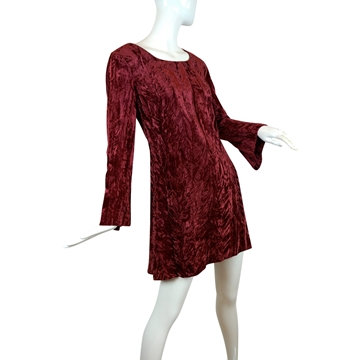 Young Edwardian 1960s Crushed Velvet Mini Dress