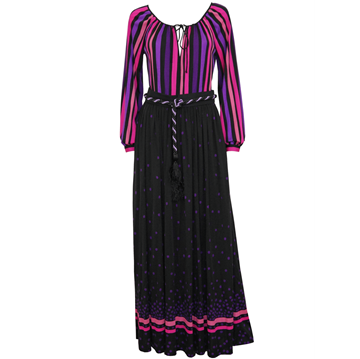 LOUIS FÉRAUD c1970 Belted vintage Maxi Dress