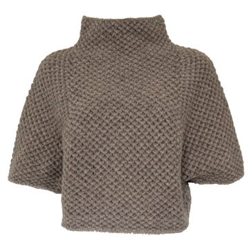 Fabiana Filippi Wool grey jumper cape