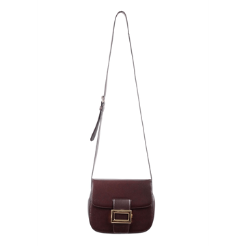 Prada Leather Messenger brown Crossbody Shoulder Bag