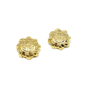 GIVENCHY 1980's round logo CLIP on vintage EARRINGS