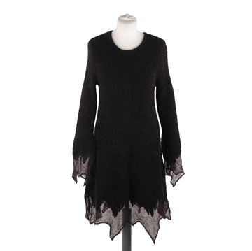 Picture of Chanel Asymmetrical Mohair Black Vintage Dress