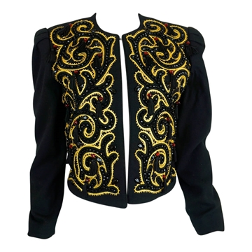 Nolan Miller 1980s Embellished black Jacket
