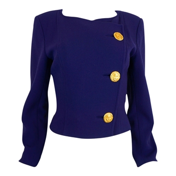 Christian Lacroix 1990s three button Purple vintage Jacket