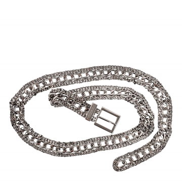 Chanel Triple Row silver vintage Chain Belt