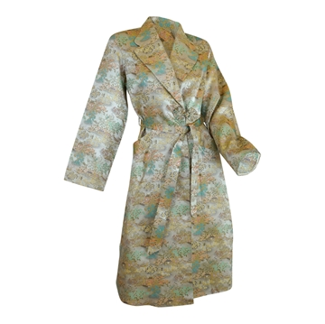 Vintage 1950s Asian Brocade silver Evening Jacket