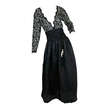 Liancarlo 1980s sequin black vintage Evening Dress