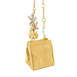 Gianni Versace gold tone jewelled vintage shoulder Bag