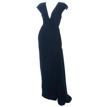 Valentino 1980s Velvet Black Vintage Evening Gown