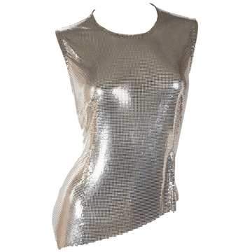 Gianni Versace Couture 1990s Oroton Bronze Metal Mesh vintage Top