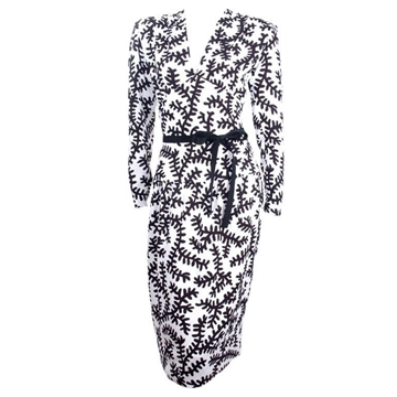 Yves Saint Laurent 1980s monochrome vintage Dress