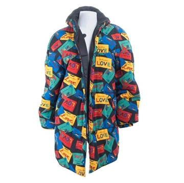 Yves Saint Laurent 1990s Reversible LOVE Vintage Puffer Jacket