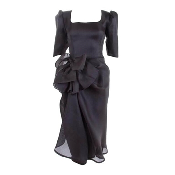 Givenchy 1980s ruffle black vintage Cocktail Dress