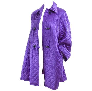 Valentino Quilted Silk purple vintage Coat