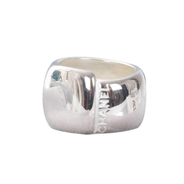 CHANEL 1990S Sterling Silver CHUNKY VINTAGE Ring