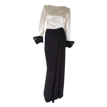 Nina Ricci 1980s Couture monochrome vintage dress