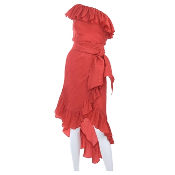 vintage-yves-saint-laurent-cocktaildress-in-red-and-asymmetrical-hemline
