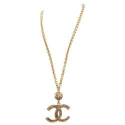 Chanel 1985 CC Logo Pendant & Ball vintage necklace